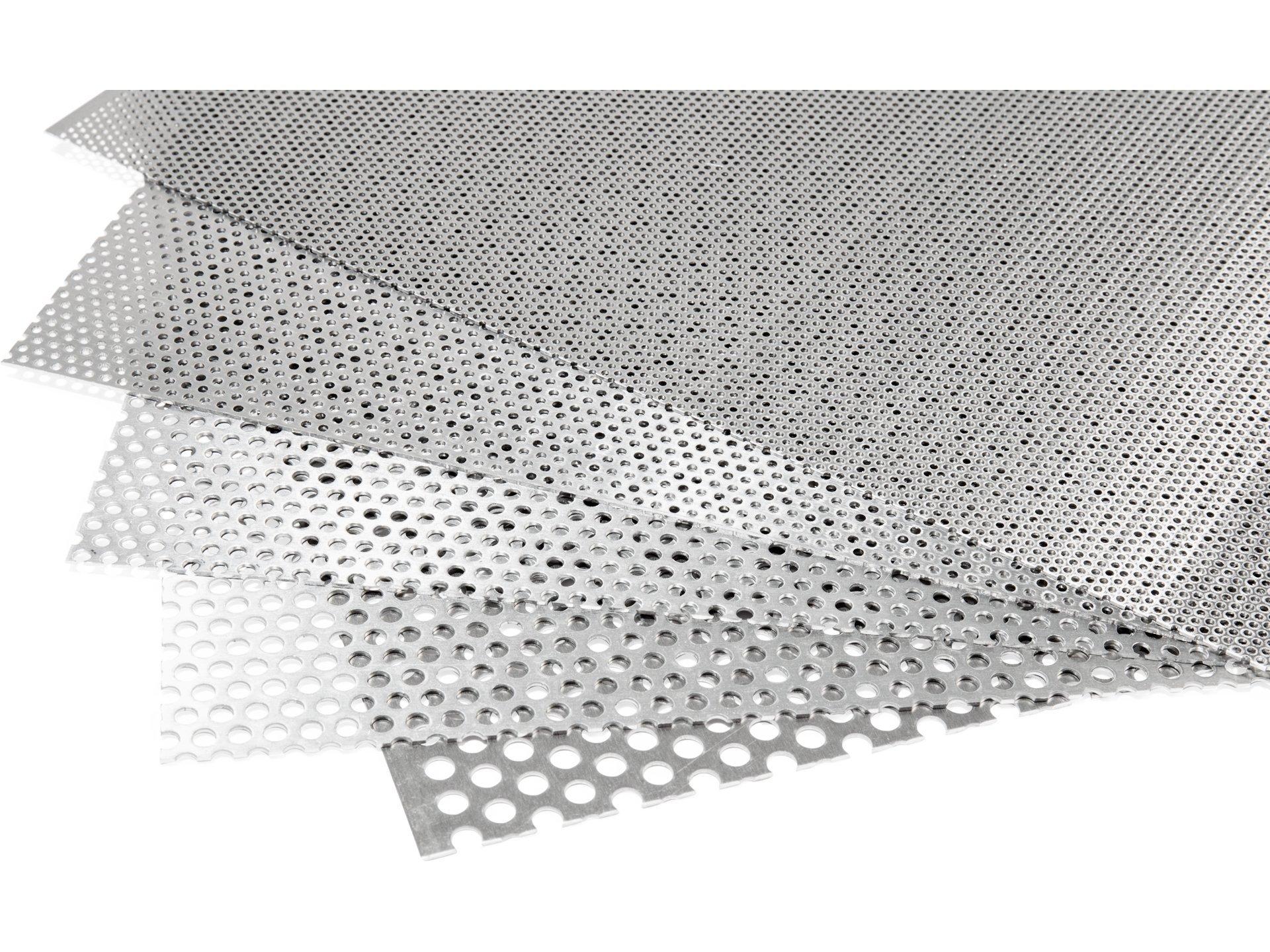 Aluminium Rundloch, versetzt im Zuschnitt