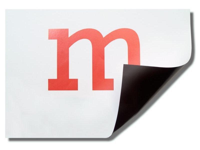 Magnetfolie Permaflex, papierbeschichtet, weiß