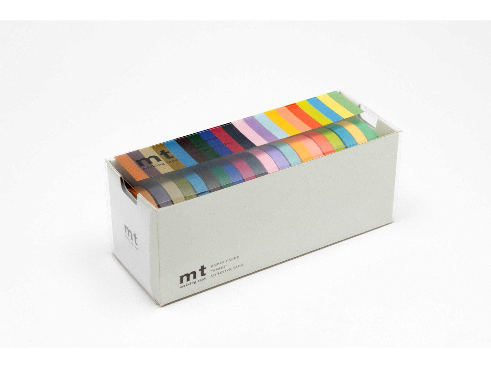 Mt Masking Tape, Washi Klebeband uni, 20er-Set
