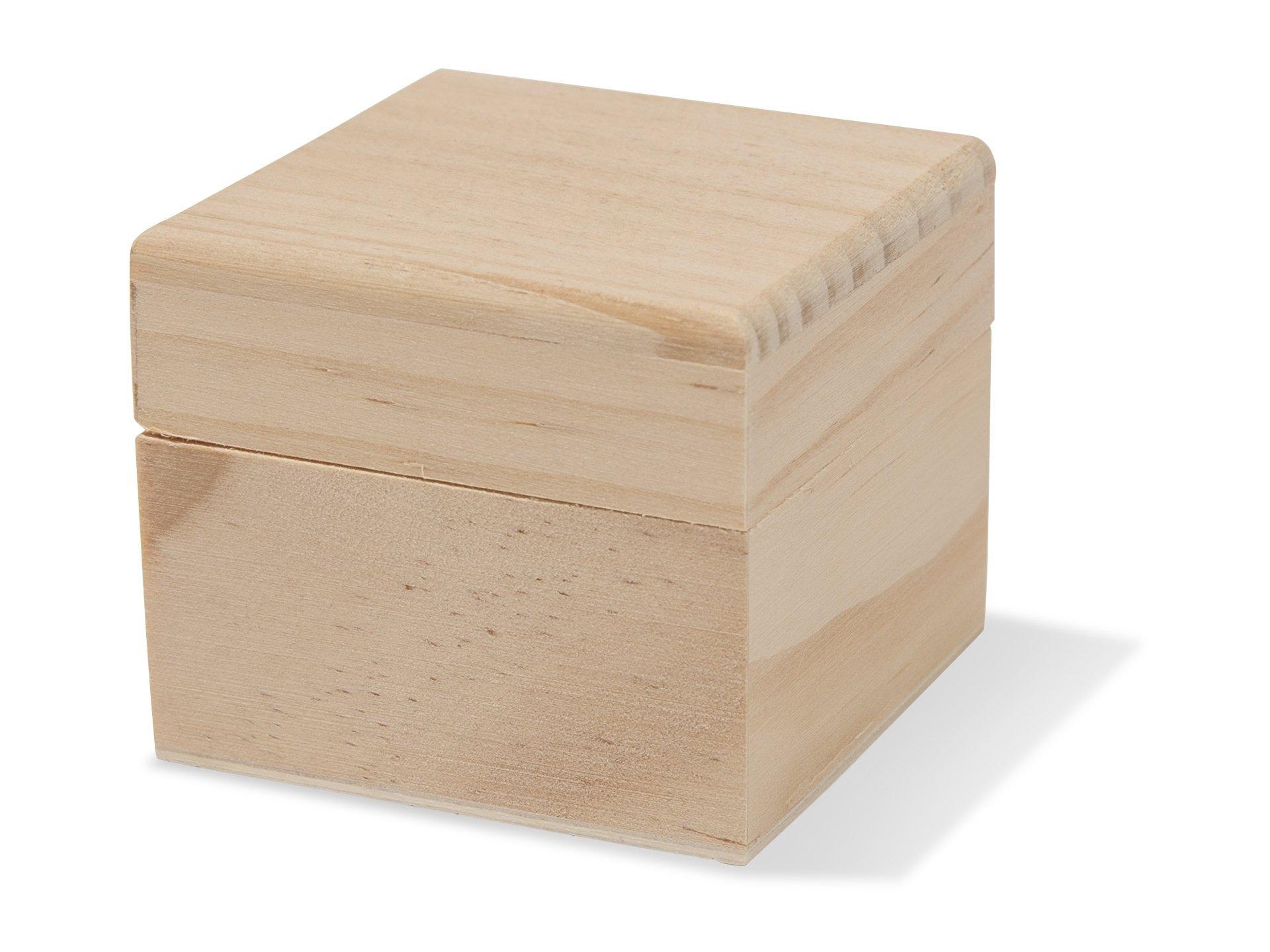 Holzbox quadratisch mit Deckel