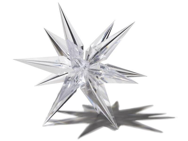 Kunststoff Stern transparent, dreidimensional