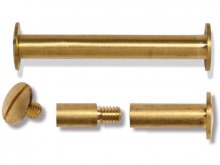 Brass bookbinding screws