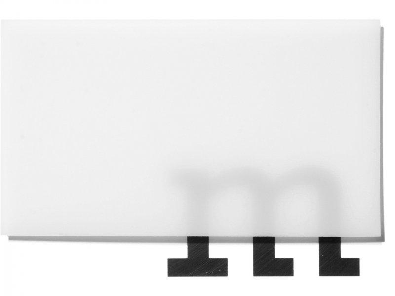 Polypropylen transluzent, nebelweiß, matt