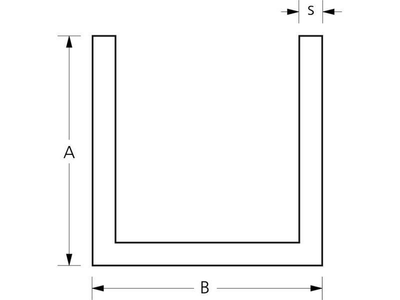 aluminium u profil ungleichseitig kaufen modulor. Black Bedroom Furniture Sets. Home Design Ideas