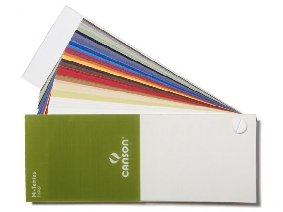 Canson Mi-Teintes vellum drawing paper, colour fan