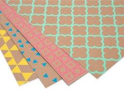 Kelly Hyatt recycled gift wrap paper