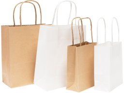 Folia Paper Bags With Twisted Paper Handle