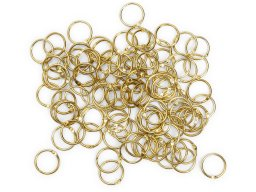 Binder rings, brass-plated