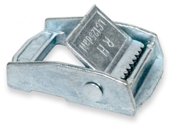 Clamp buckle for lashing straps, galvanized steel