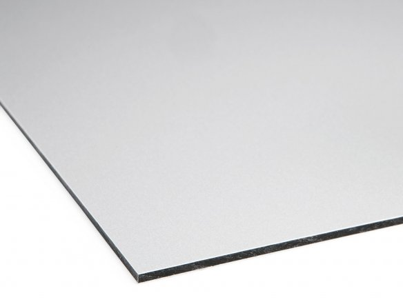 Dibond Alu/PE composite board, metallic aluminium custom cutting