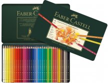 Faber Castell Polychromos coloured pencil, set of 36