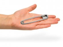 Prym giant steel safety pins, hardened