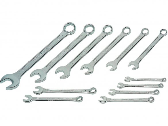 Combination wrench, set of 12