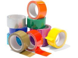 Packing tape, PP, acrylate adhesive, coloured