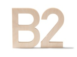 Modulor Birkensperrholz Buchstaben / Zahlen