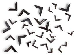 Book corner protectors, angular shaped, black