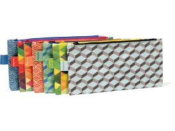 Paprcuts pencil case, flat, Tyvek