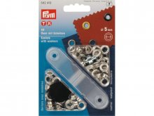 Prym eyelets with washers, nickel-plated brass