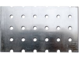 Aluminium, round-holed, square pitch custom cutting