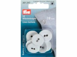 Prym linen buttons, white
