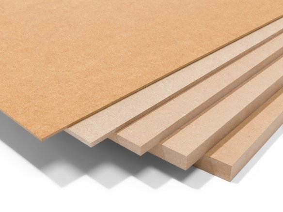 MDF, brown, uncoated custom cutting