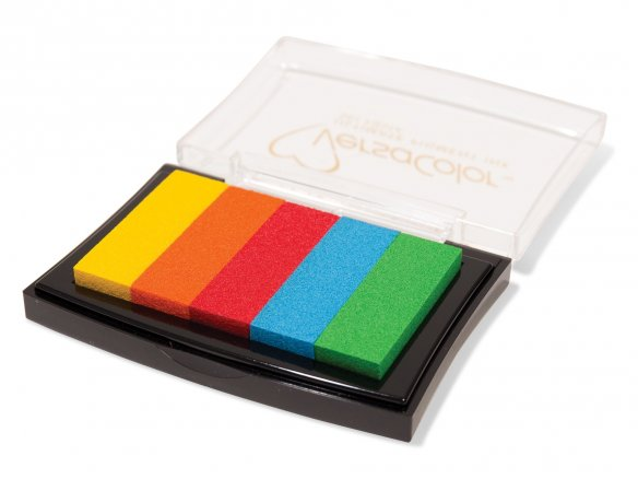 Versacolour rainbow ink pad