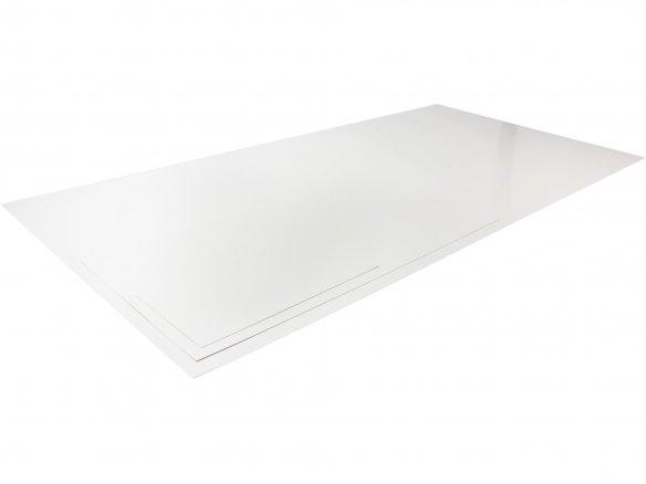 Polystyrolplatte weiß 245 x 495 x 3,0 mm Stärke Kunststoff Platte Plastik 3mm