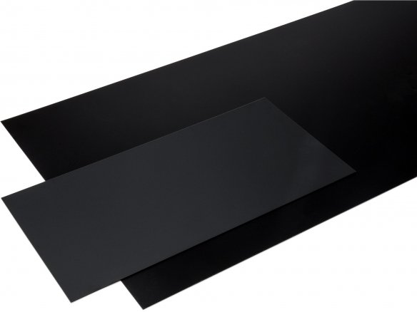 Polystyrene black, matte