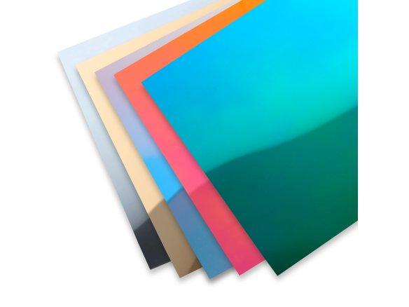 Poliestireno espejado, de color, liso