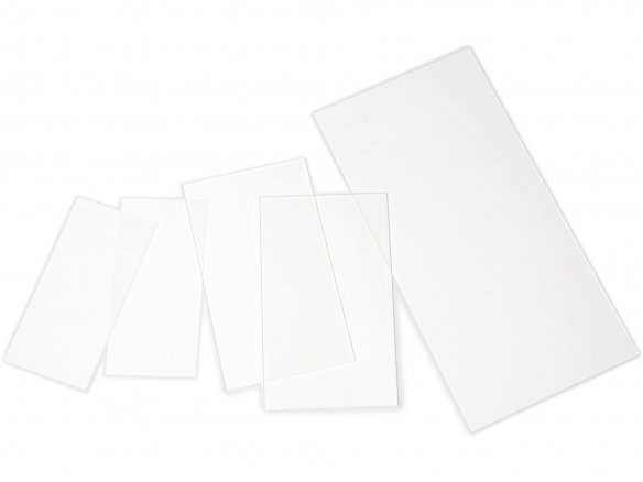 F/ür Innen und Au/ßen Zuschnitte |St/ärke 4 mm Kanten unbearbeitet PMMA | Glasklare Platte in 250 x 250 mm DOLLE Acrylglas XT UV-Stabil