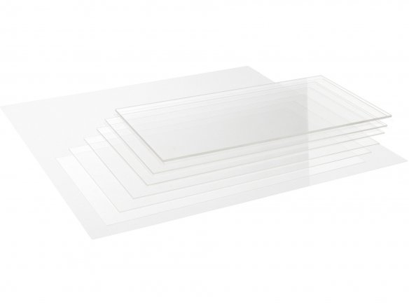 Precision acrylic glass, transparent, colourless