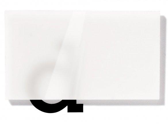 Precision acrylic glass, translucent, white