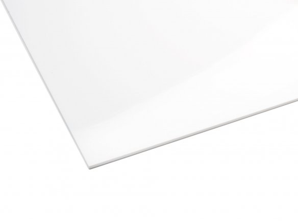 Precision acrylic glass, opaque, white