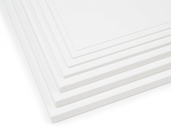 Forex Classic rigid-PVC foam board, white (custom cutting available)