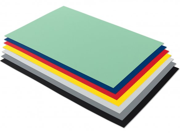 Rigid-PVC, opaque, coloured