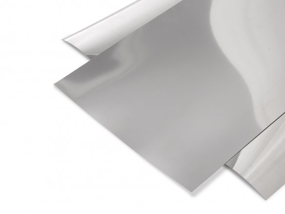 Rigid-PVC mirror-film, silver, smooth