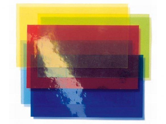 Lámina transparente de PVC blando, de color