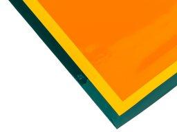 Lámina lacada de PVC blando, opaca, de una capa