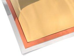 Lámina espejada de PVC blando, de color