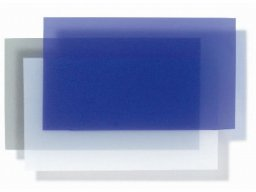 Soft-PVC translucent film, coloured