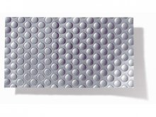 Soft-PVC textured film Golf, silver