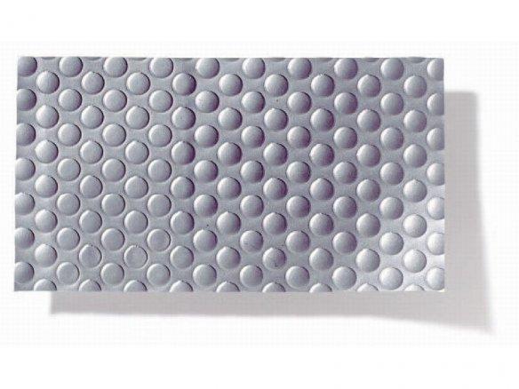 Lámina con estructura Golf, PVC blando, plateada