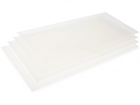 Silicone sheet, translucent, colourless