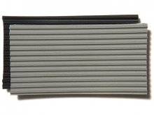 Solid rubber fine-grooved mat