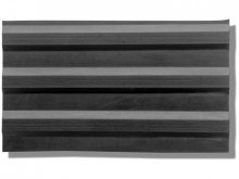 Solid rubber wide-grooved mat