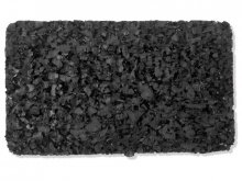 Regupol resist rubber mat, black