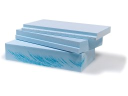 Styrofoam azul claro, no recortado