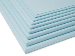 Styrofoam azul claro, recortado