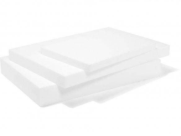 Polystyrene rigid foam, white, untrimmed