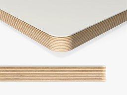 Linoleum tabletop, 25mm radius custom cutting